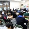 テスト前自習生で教室は満員御礼!