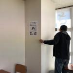 塾の壁をぶち抜く打ち合わせを内装屋さんとしたよ!