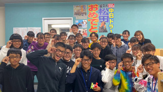 中日ドラゴンズ入団の松田先生のテレビ取材が塾に来たよ!